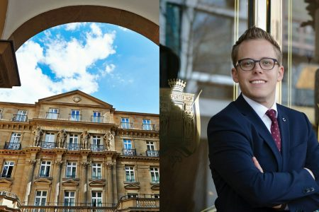 Andre Burkhard ist der neue Marketing Manager des Hotels Steigenberger Frankfurter Hof (Foto Portrait: Agnes Jacobi)