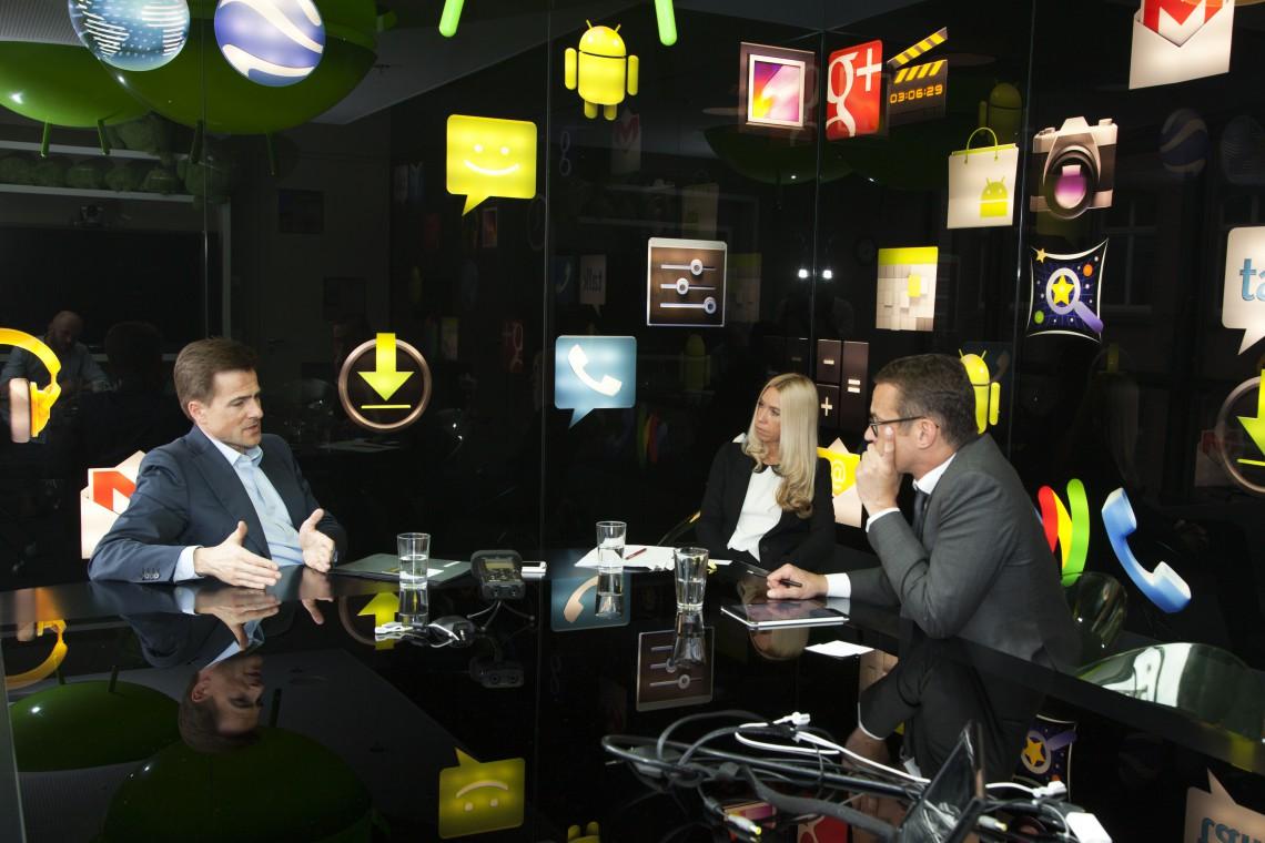 Google-CEO Deutschland, Philipp Justus, im Interview mit Kai Anderson und Jane Uhlig