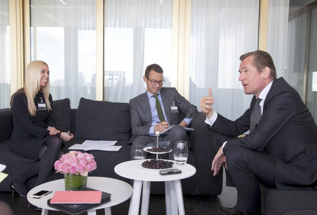 Mathias Döpfner im Gespräch mit Kai Anderson und Jane Uhlig im Axel Springer-Haus Berlin