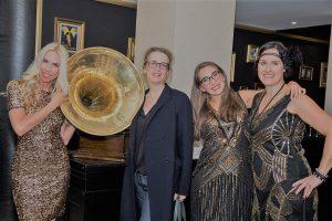 PR-Expertin und Publizistin Jane Uhlig mit FNP-Journalistin jutta Failing, Architektin Sarah Canenbley und Finanzprofi Milijana Lazic