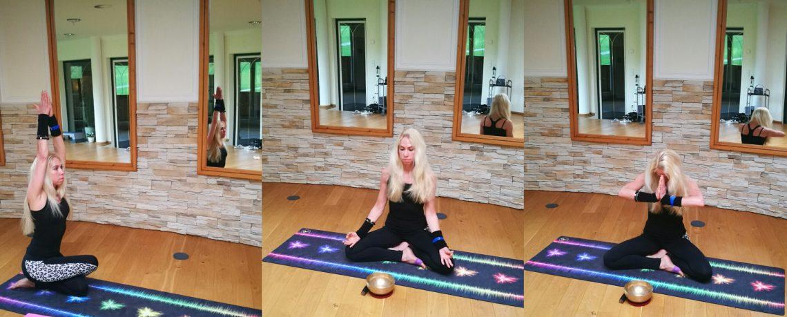 Yogatrainerin Jane Uhlig im alpinen Sport- und Wellnesshotel Lärchenhof