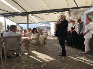 Inhaber Martin Unterrainer begrüßte die Gäste sehr herzlich und ansprechend