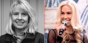Moderatorin Jane Uhlig interviewt Gisela Getty, Ikone der 68-Bewegung