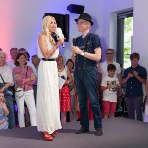 Inhaber Stefan Messer im Interview mit Moderatorin Jane Uhlig