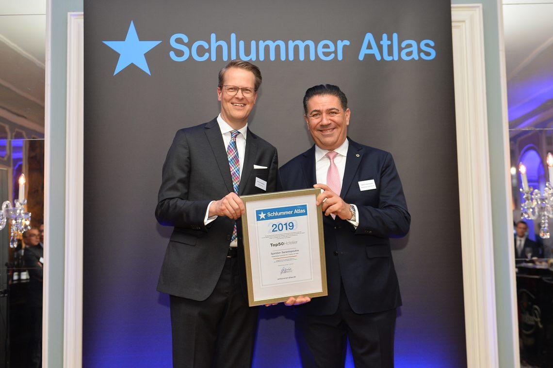 """Steigenberger Frankfurter Hof: Spiridon Sarantopoulos ist Preisträger der """"Schlummeratlas Top 50 Hoteliers Deutschland 2019"""""""