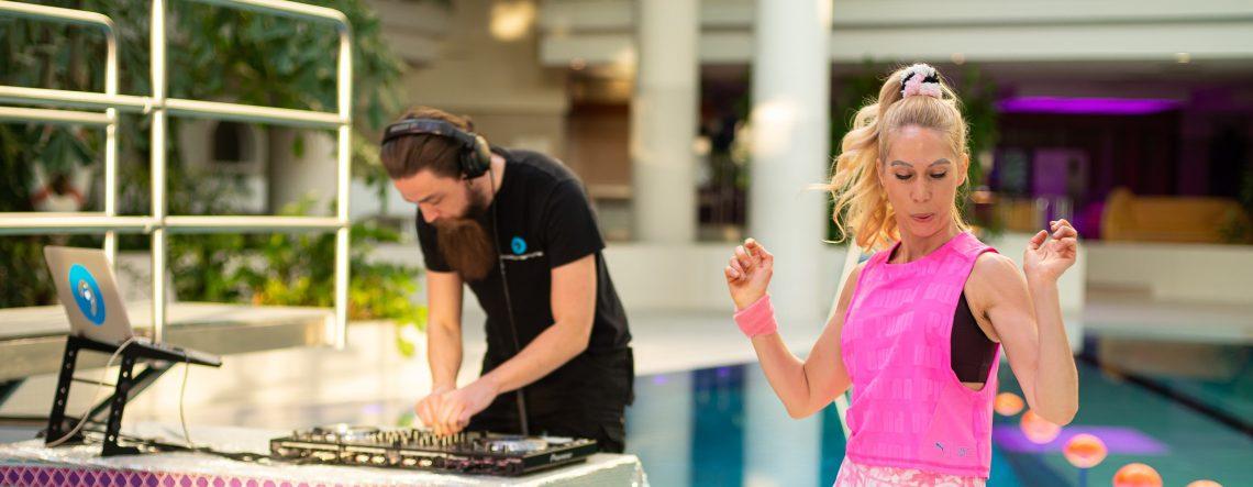 Frankfurter Bäder & DJ Inspectah: Aerobic Dance Fitness Event mit Jane Uhlig