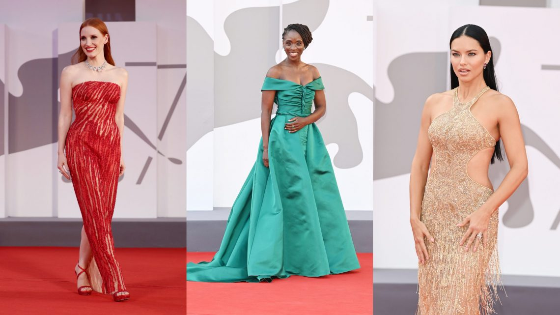 Jessica Chastain, Adriana Lima and Sharon Duncan-Brewster wear Chopard Jewelry for the 78th Venice International Film Festival