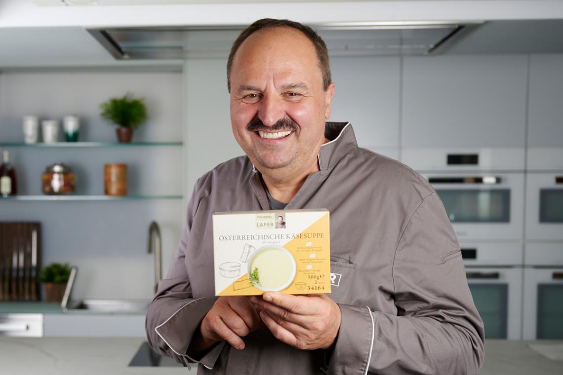 Neue Gourmet-Kreationen: Starkoch Johann Lafer ist für eismann kreativ