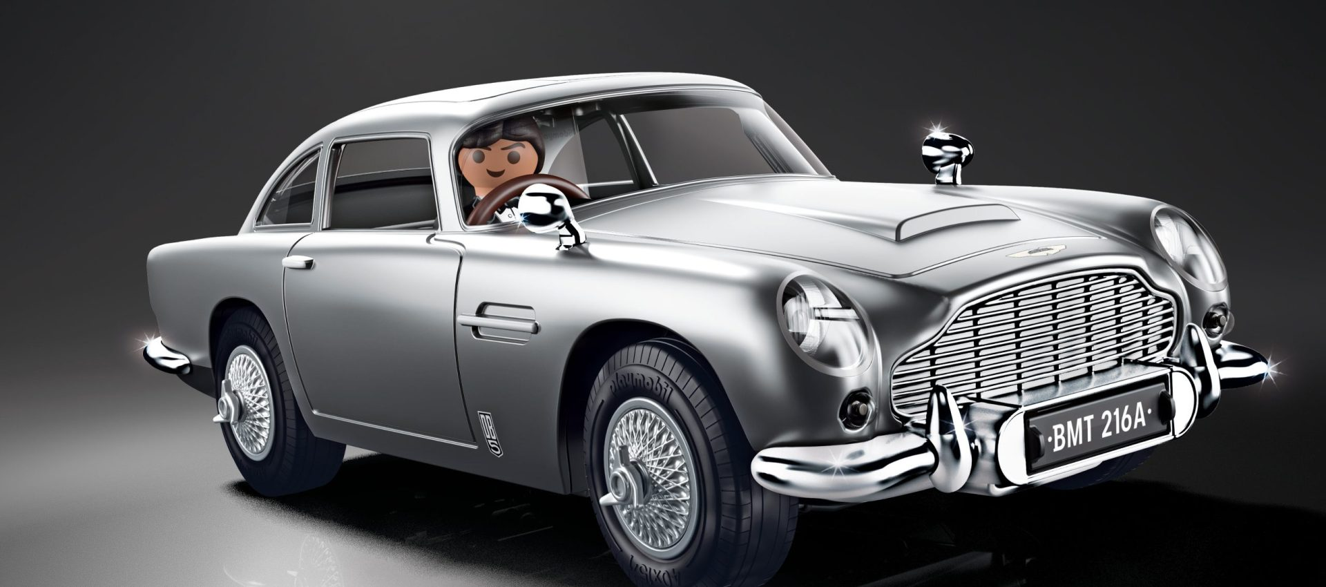The James Bond Aston Martin DB5 – Goldfinger Editionfrom PLAYMOBIL is ready to serve on Her Majesty's Secret Service